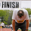 Record-Eagle/Jan-Michael Stump<br /> Runners finish the half-marathon in Saturday's 29th annual Bayshore Marathon.#694