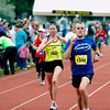Record-Eagle/Jan-Michael Stump<br /> Runners finish the marathon in Saturday's 29th annual Bayshore Marathon.#1932