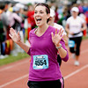 Record-Eagle/Jan-Michael Stump<br /> Runners finish the half-marathon in Saturday's 29th annual Bayshore Marathon.#4554