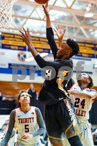Tyler Junior College's Sky'lynn Holmes (24) shoots the ball during a NJCAA Region XIV basketball tournament game at John Alexander Gym in Jacksonville, Texas, on Friday, March 10, 2017. Trinity Valley College beat Tyler Junior College 72-58. (Chelsea Purgahn/Tyler Morning Telegraph)