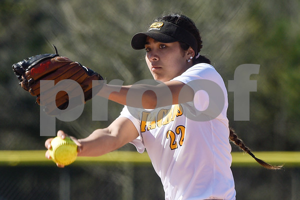 Tyler Junior College's Julia Knight (22) during a college baseball game at The Brook Hill School in Bullard, Texas, on Monday, March 12, 2018. (Chelsea Purgahn/Tyler Morning Telegraph)