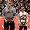Randy Meyers -- The Morning Journal State champions honored at the All- Star meet were Kevin Vough, left, and Brendon Fenton of Elyria. A third champion from Elyria, J.T. Brown was not present.