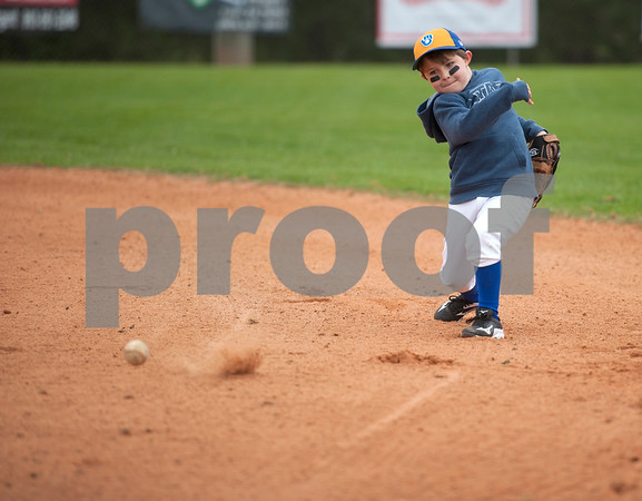 Austin Linville throws the ball during a warm up with the Brewers, a Rose Capital West Little League 5-pitch team, Saturday March 19, 2016 at Faulkner Park.  (Sarah A. Miller/Tyler Morning Telegraph