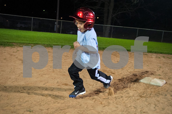 Warren Royall, 5, of Tyler, runs to second base during T-ball practice with the Rose Capital East Bluejays at Golden Road Park in Tyler Wednesday March 2, 2016. The coed team is made up of children ages 3, 4, and 5. The team's first game will be held opening day Saturday March 19.   (Sarah A. Miller/Tyler Morning Telegraph)