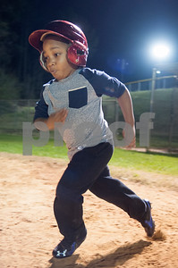 """Bryston """"Turbo"""" Henderson, 6, of Tyler, runs to second base during T-ball practice with the Rose Capital East Bluejays at Golden Road Park in Tyler Wednesday March 2, 2016. The coed team is made up of children ages 3, 4, and 5. The team's first game will be held opening day Saturday March 19.   (Sarah A. Miller/Tyler Morning Telegraph)"""