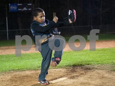 Sirroc Fisher, 5, of Tyler, dances on the pitcher's mound during practice with the Rose Capital East Bluejays at Golden Road Park in Tyler Wednesday March 2, 2016. The coed team is made up of children ages 3, 4, and 5. The team's first game will be held opening day Saturday March 19.   (Sarah A. Miller/Tyler Morning Telegraph)