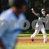 Bishop T.K. Gorman's Michael Lara (13) throws the ball to first base as an All Saints player runs to first base during a high school baseball game at All Saints Episcopal School in Tyler, Texas, on Thursday, March 22, 2018. All Saints beat Bishop T.K. Gorman 4-3. (Chelsea Purgahn/Tyler Morning Telegraph)