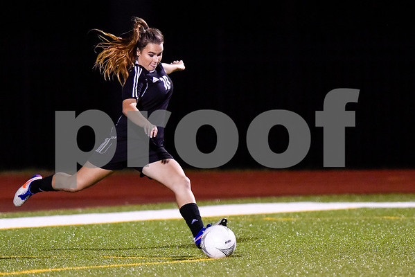 Spring Hill's Raygan Barnhill (10) kicks the ball during a class 4A bi-district game at Robert E. Lee High School in Tyler, Texas, on Thursday, March 23, 2017. (Chelsea Purgahn/Tyler Morning Telegraph)