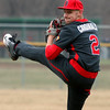 Randy Meyes -- The Morning Journal Brookside starting pitcher Tim Ackerman delivers against Lorain during the third inning.