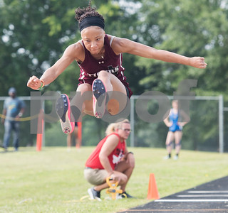 Kierra Yarbrough of Arp High School competes in the triple jump during the Class 3A Region II meet at Wildcat Stadium in Whitehouse Friday April 28, 2017.  (Sarah A. Miller/Tyler Morning Telegraph)