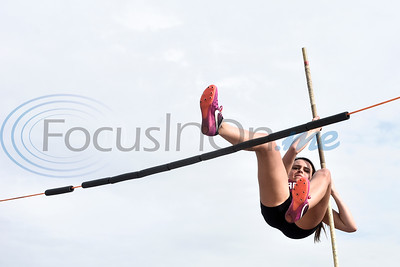 An athlete warms up during a track and field meet in Whitehouse, Texas, on Thursday, March 28, 2019. (Chelsea Purgahn/Tyler Morning Telegraph)