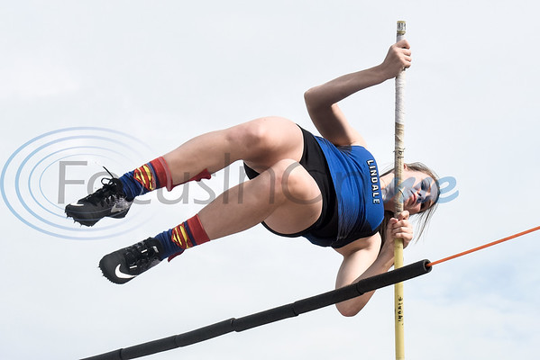 A Lindale athlete warms up during a track and field meet in Whitehouse, Texas, on Thursday, March 28, 2019. (Chelsea Purgahn/Tyler Morning Telegraph)