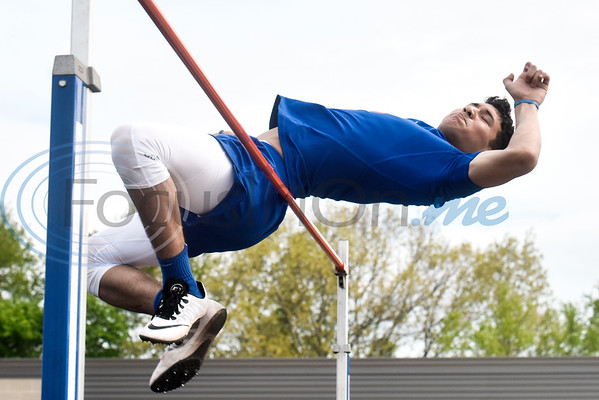 An athlete competes in a track and field meet in Whitehouse, Texas, on Thursday, March 28, 2019. (Chelsea Purgahn/Tyler Morning Telegraph)