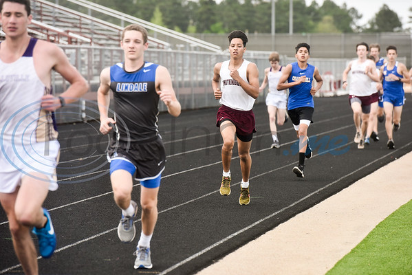 Athletes compete in a track and field meet in Whitehouse, Texas, on Thursday, March 28, 2019. (Chelsea Purgahn/Tyler Morning Telegraph)