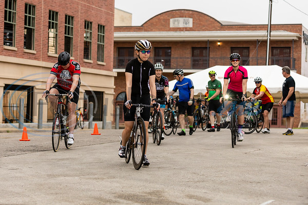 Rider's advance to the starting line for the 32nd annual Beauty and the Beast Bike Tour in Tyler Texas. photo by John Murphy Focus In On Me