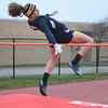 North Ridgeville's Issy Geraci competes in the high jump. Eric Bonzar — The Morning Journal