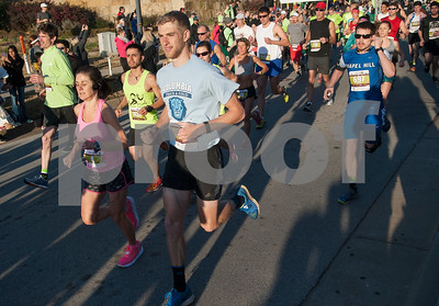 Mark Feigen of Austin, center, competes in the Fresh 15 15k race Saturday March 5, 2016 in Tyler.   (Sarah A. Miller/Tyler Morning Telegraph)