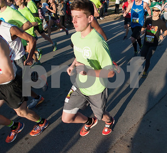 Aaron Wilson, 16, of Mabank competes in the Fresh 15 15k race Saturday March 5, 2016 in Tyler.   (Sarah A. Miller/Tyler Morning Telegraph)