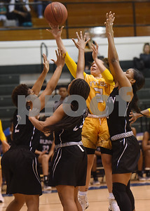 Tyler Junior College's Jordan Towery shoots the ball during their game against Blinn College in the Region XIV Basketball Tournament held Wednesday March 8, 2017 at John Alexander Gym in Jacksonville.  (Sarah A. Miller/Tyler Morning Telegraph)