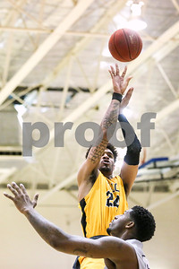Tyler Junior College sophomore Eden Ewing (24) shoots the ball during a Region XIV tournament game at John Alexander Gym in Jacksonville, Texas, on Thursday, March 9, 2017. Lee College won 70-69. (Chelsea Purgahn/Tyler Morning Telegraph)