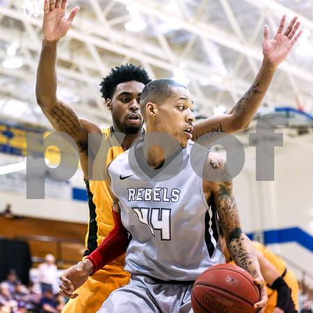 Lee College sophomore Andre Edwards (44) looks over his shoulder during a NJCAA Region XIV tournament game at John Alexander Gym in Jacksonville, Texas, on Thursday, March 9, 2017. Lee College won 70-69. (Chelsea Purgahn/Tyler Morning Telegraph)