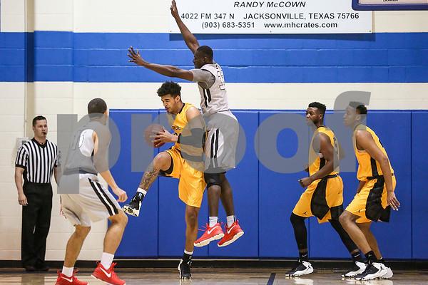 Tyler Junior College sophomore Eden Ewing (24) attempts to rebound during a NJCAA Region XIV tournament game at John Alexander Gym in Jacksonville, Texas, on Thursday, March 9, 2017. Lee College won 70-69. (Chelsea Purgahn/Tyler Morning Telegraph)