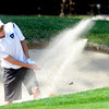 Carson Jones of Alexander Dawson hits out of a sand trap at the Class 3A Northern Regional Golf Tournament at the Boulder Country Cluf on Thursday September 20, 2012. <br /> Photo by Paul Aiken
