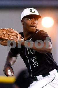 Longview's Adarius Carter (2) pitches during a high school baseball game at Mike Carter Field in Tyler, Texas, on Tuesday, April 10, 2018. (Chelsea Purgahn/Tyler Morning Telegraph)