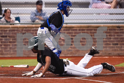 Longview's Trent Bush (16) slides into home plate during a high school baseball game at Mike Carter Field in Tyler, Texas, on Tuesday, April 10, 2018. (Chelsea Purgahn/Tyler Morning Telegraph)