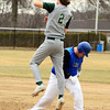 Leominster's David Barry slides into second base as Nashoba's Ian Sabourin applies the tag. 	SENTINEL & ENTERPRISE / SCOTT LAPRADE