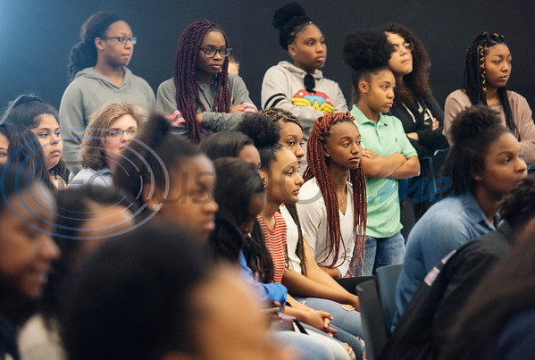 Friends and family members of John Tyler High School student athletes attend a collegiate signing ceremony at the Tyler ISD CTC on Tuesday April 16, 2019.  (Sarah A. Miller/Tyler Morning Telegraph)