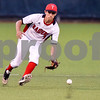 Robert E. Lee's Trevor Doke (1) runs to the ball during a high school baseball game at Mike Carter Field in Tyler, Texas on Tuesday, April 17, 2018.  (Chelsea Purgahn/Tyler Morning Telegraph)