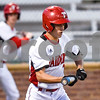 A Robert E. Lee player bunts the ball during a high school baseball game at Mike Carter Field in Tyler, Texas on Tuesday, April 17, 2018.  (Chelsea Purgahn/Tyler Morning Telegraph)