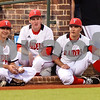 Robert E. Lee players watch from the dugout during a high school baseball game at Mike Carter Field in Tyler, Texas on Tuesday, April 17, 2018.  (Chelsea Purgahn/Tyler Morning Telegraph)