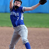 Midview's Lauren Landers delivers a pitch against Amherst during the top of the fifth inning. She got the shutout win in the rain-shortened game. Randy Meyers -- The Morning Journal