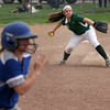 Amherst third baseman Adrianna Marcano fields a ground ball and throws out the Midview runner. Randy Meyers -- The Morning Journal