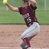 Rocky River starting pitcher Marissa Smiley delivers a pitch against Elyria Catholic. Randy Meyers -- The Morning Journal