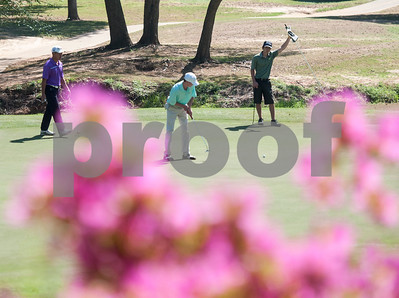 Nathan Lee of Lewisville, Mason Hoodis of Dallas and Matthew Calhoun of Sulphur Springs are pictured during the Azalea Trail Junior Golf Classic held at Hollytree Country Club in Tyler Saturday April 2, 2016. The classic had 141 golfers.  (Sarah A. Miller/Tyler Morning Telegraph)
