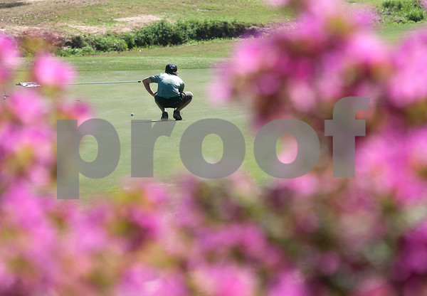 Matthew Calhoun of Sulphur Springs is pictured during the Azalea Trail Junior Golf Classic held at Hollytree Country Club in Tyler Saturday April 2, 2016. The classic had 141 golfers.  (Sarah A. Miller/Tyler Morning Telegraph)