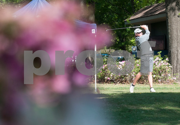Liam Orzen of Flower Mound tees during the Azalea Trail Junior Golf Classic held at Hollytree Country Club in Tyler Saturday April 2, 2016. The classic had 141 golfers.  (Sarah A. Miller/Tyler Morning Telegraph)