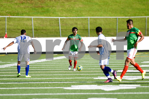 Mexico's Isacc Terrazas (13) looks to pass the ball during a soccer game at Christus Trinity Mother Frances Rose Stadium in Tyler, Texas, on Sunday, April 2, 2017. Mexico beat Honduras 3-2. (Chelsea Purgahn/Tyler Morning Telegraph)