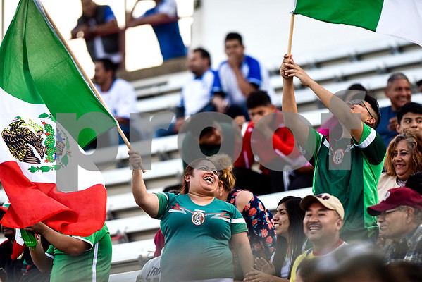 Mexico fans cheer during a soccer game at Christus Trinity Mother Frances Rose Stadium in Tyler, Texas, on Sunday, April 2, 2017. Mexico beat Honduras 3-2. (Chelsea Purgahn/Tyler Morning Telegraph)