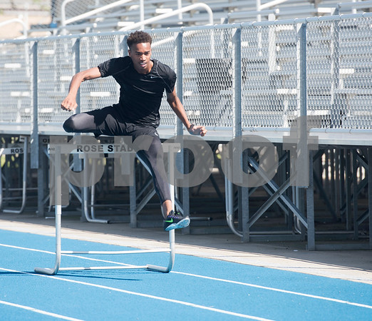 John Tyler High School junior Ke'Tavion Humber will be competing in the 110- and 300-meter hurdles at the Class 6A Region II meet later in the week in Waco.  (Sarah A. Miller/Tyler Morning Telegraph)