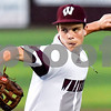 Whitehouse's Zach Graham (15) pitches during a high school baseball game in Whitehouse, Texas, on Tuesday, April 24, 2018. (Chelsea Purgahn/Tyler Morning Telegraph)