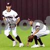 Whitehouse's Zach Taylor (8) runs as teammate Brandon Quarles (3) picks up the ball during a high school baseball game in Whitehouse, Texas, on Tuesday, April 24, 2018. (Chelsea Purgahn/Tyler Morning Telegraph)