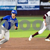 Lindale's Killin McCartney runs back to second base during a high school baseball game in Whitehouse, Texas, on Tuesday, April 24, 2018. (Chelsea Purgahn/Tyler Morning Telegraph)