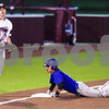 Whitehouse's Jack Clark (17) looks at teammates as a Lindale player steals third during a high school baseball game in Whitehouse, Texas, on Tuesday, April 24, 2018. (Chelsea Purgahn/Tyler Morning Telegraph)