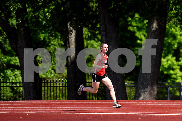Mary Claire Neal, 18, runs for a picture at Robert E. Lee High School in Tyler, Texas, on Tuesday, April 25, 2017. Neal has qualified in the 800mm race for the regional meet, which will take place in Waco this weekend. (Chelsea Purgahn/Tyler Morning Telegraph)