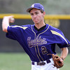 Boulder's Francis Lanzano makes the throw to first for an out against Monarch during their baseball game at Monarch High School in Louisville, Colorado April 26, 2012. BOULDER DAILY CAMERA/MARK LEFFINGWELL