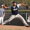 Lorain relief pitcher Tre'von Morgan delivers a pitch against Rocky River. Randy Meyers -- The Morning Journal